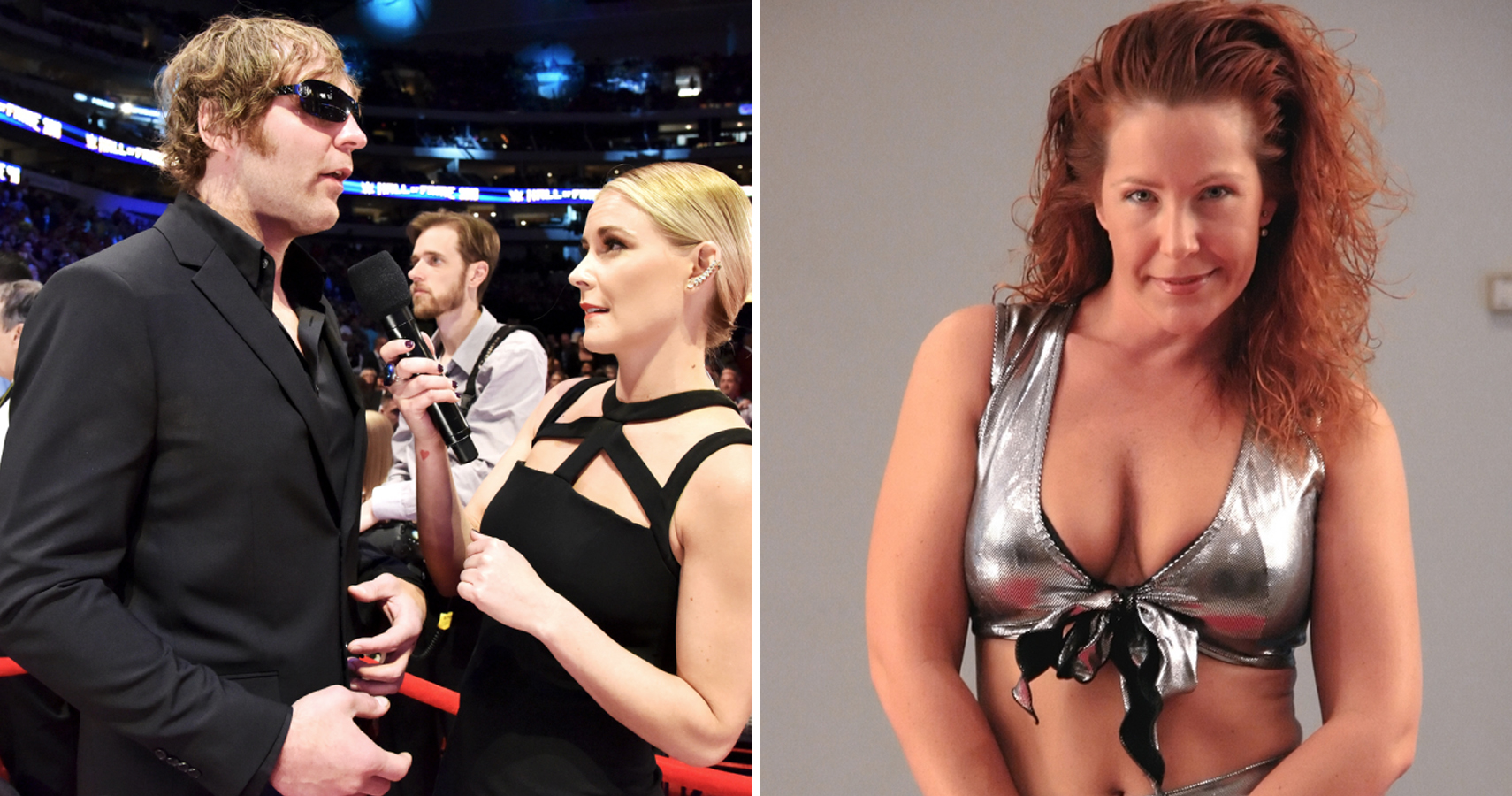 renee young is not to be dating dean ambrose