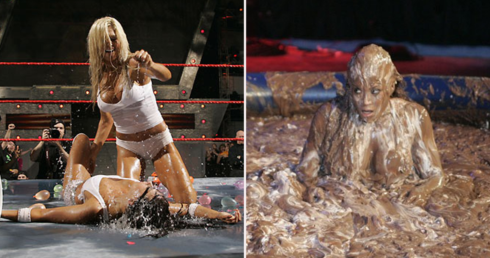 Charlotte vs marie oilwrestling nude in ring - 4 2