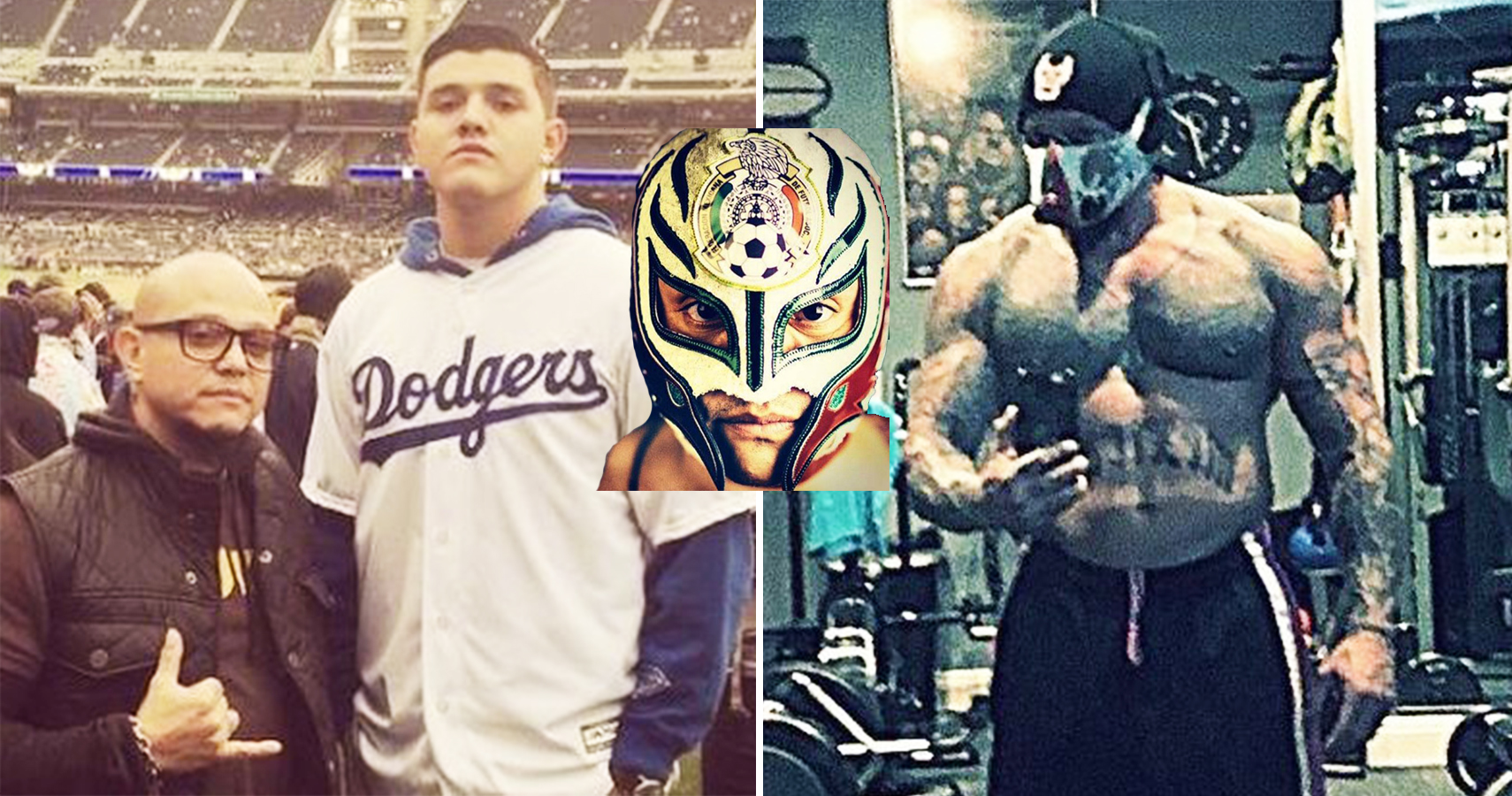 15 Pictures Of An Unmasked Rey Mysterio You Need To See on oscar gutierrez with angie