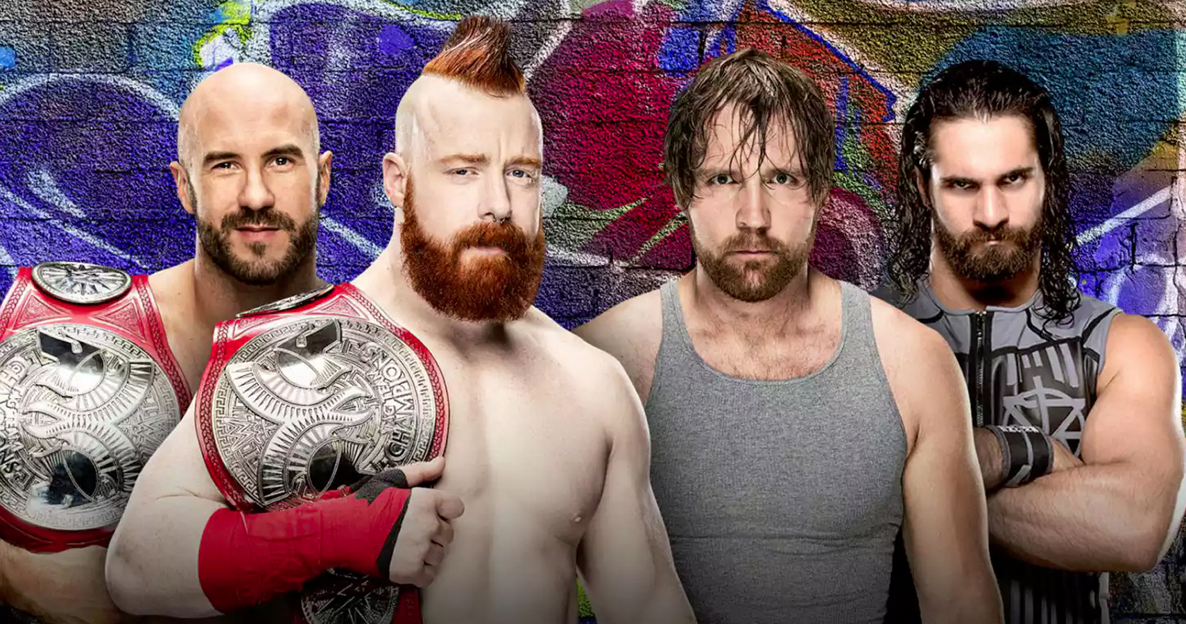 Image result for Sheamus and cesaro vs Rollins and Ambrose summerslam